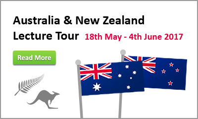 Australia and New Zealand Lecture Tour 18 May - 4 June