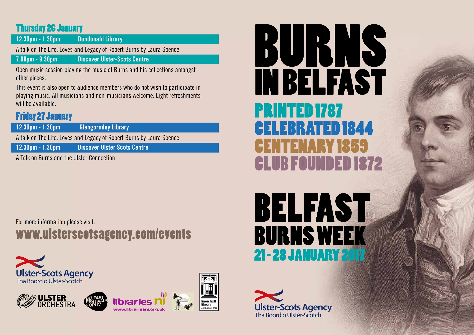 Belfast Burns Week Flyer Page 1