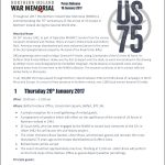 Northern Ireland War Memorial - 75th Anniversary Programme