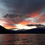 Sunset over Lake Wanaka, 23 May 2017