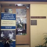 Sydney workshop hosted by the Society of Australian Genealogists, 25 May 2017