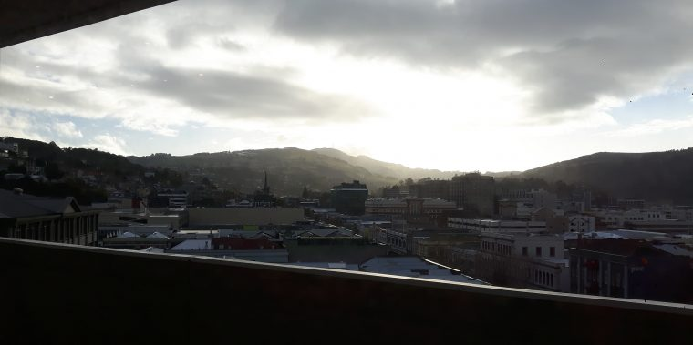 View from Dunedin Public Library, 21 May 2017