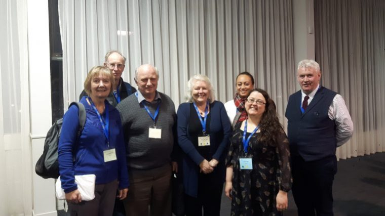 Some of the Auckland conference attendees who have also attended one of our Irish family history conferences in Belfast: Louise, Matt, Graeme, Mary-Ann and Davina with Gillian and Fintan