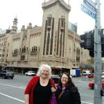 Our Melbourne host Mary-Ann and Gillian exploring some of the sights in Melbourne, 1 June 2017