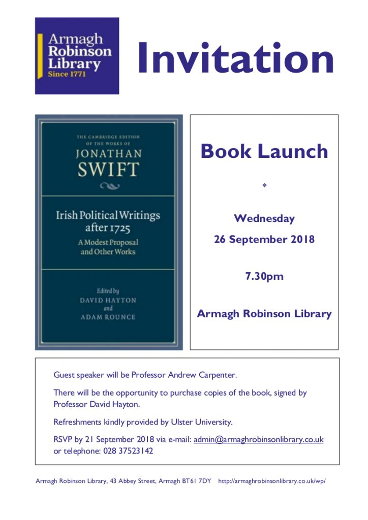 Invitation to Professor Hayton's Book Launch